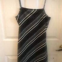 Woman's Express Brand Black & White Stripe Dress Size 1/2 Preowned Photo