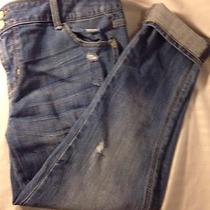 Woman's Express Denim Jeans Size 8 Modern  Distressed Boyfriend Relaxed Fit Photo