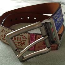Woman's Fossil Leather Belt Photo