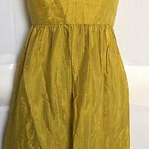 Woman's Fossil Size M Mustard Yellow Spaghetti Strap Dress Photo