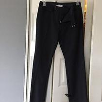 Woman's Gap Modern Boot Black Pinstripe Dress Pants 4 Ankle Photo