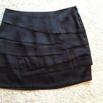 Woman's h&m Black Tiered Mini Skirt. Size 10 Photo