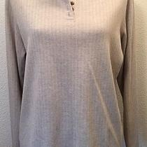 Woman's Henley Style Shirt Size Xl Beige Classic Elements Brand  Photo