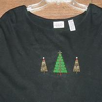 Woman's Holiday Christmas Winter Knit Top Sz. 24-26w- Classic Elements Photo