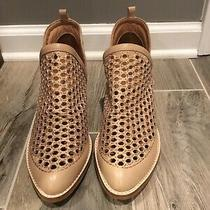 Womans Jeffrey Campbell Tan Leather Booties Size 9 Photo