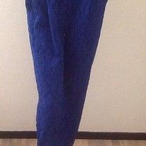 Woman's  June & Hudson Paints Blue Sizel Nwot Photo