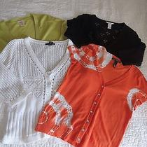 Woman's Large Lot of 4 Cardigans Inc Candies Willi Smith Photo