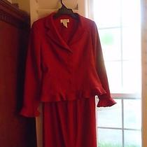 Woman's Red Classy Christie & Jill Suit Collection Size 8 Photo
