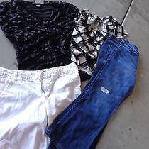 Woman's Shorts Lot Size 14/16 Mossimo and Others Uu30 Photo