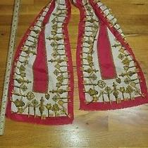 Woman's Silk Scarf Oscar De La Renta Gold Keys Motif Photo