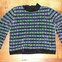 Woman's Sweater Valerie Stevens Chenille Sweater Striped Rayon/acrylic Photo