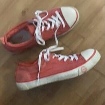 Womans Ugg Melon Colored Shoes Sheepskin Lined Sneakers Size 8 Photo