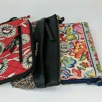 Woman's Zippered Clutch Wristlet Wallet  Vera Bradley Juicy Couture  Set of 3 Photo