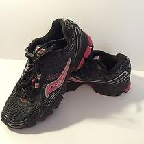 Woman Saucony Excursion Tr5 Black Pink Silver Size 7.5  Running Walking Shoes Photo