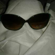 Woman Sunglasses Jessica Simpson 100% Uv Protection Turquoise/brown (Cheetah)nwt Photo