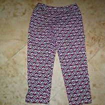 Woman Talbots Stretch Capris Size 8 27-28 Waist 24 Inseam 34 Overall Length Photo