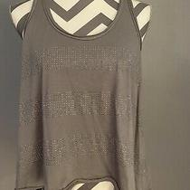 Womans Aeropostale Scoop Neck Gray Tank Top Size Large Photo