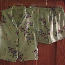 Womans Aqua Print Shot Pajamas  Size Large   Photo