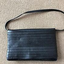 Womans Armani Exchange Black Strapped Handbag Purse Photo