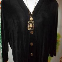 Womans Beautiful Size 2x Travel Elements Sweater & Free Necklace and Earrings Photo