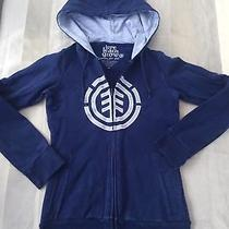 Womans Blue Zip Up Hoody Hoodie by Element Xs Size Uk 6 Hippy Boho Chic Photo