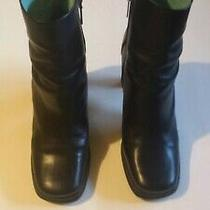 Womans Boots Black With Tan Stripe  by Bcbg Size 9 Brazil Photo