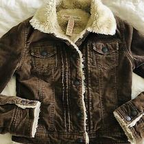 Womans Brown Corduroy Jacket Size Xs Juniors Abercrombie & Fitch Vintage Photo