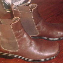 Womans Coach Reine Calf Mahogany Boots Size 8  or 39 Photo