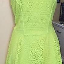 Womans Dress Yellow Florescent Med by Express Photo