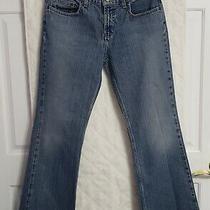 Womans Express Precision Fit Low Rise Flare Blue Jeans Sz. 5/6 S Photo
