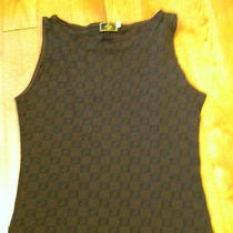 Womans Fendi Zucca Logo Rare Tank Size 42 Us Medium (Small) Stretch Photo