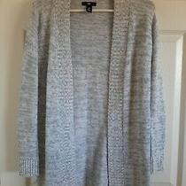 Womans Gap Gray Long Sleeve Open Cardigan Sweater 100% Cotton Sz Xs Photo