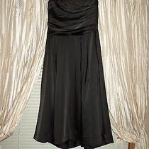 Womans h&m Black Short Formal Sweetheart Neckline Dress Photo