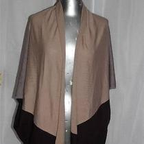 Womans Joie Tan & Brown Drape Front Cashmere Sweater Size S Photo