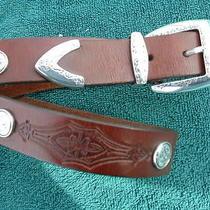 Womans Leather Belt Conchos Brighton Photo