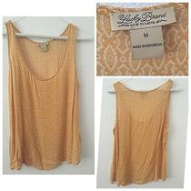 Womans Lucky Brand Yellow Print Tank- M Photo