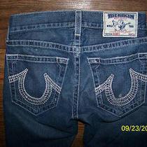 Womans Misses True Religion Bobby Seat 34 Jeans Size 28  ( 6 ) Pants Photo