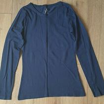 Womans Navy Blue Long Sleeve Top From Atmosphere Size 8 Excellent Condition  Photo