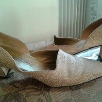 Womans Pumps Yves Saint Laurent Gold/leather Sz 9nheel 2