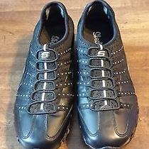 Womans Skechers Athletic Sneakers Bike Shoes Black Size 8  21457 Photo
