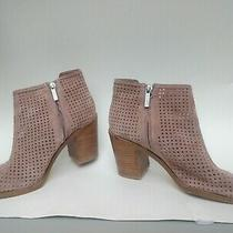 Women 1. State Blush Pink Suede Perforated Booties Sz 8m Photo