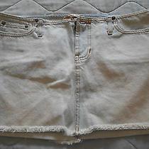 Women 100% Cotton Abercrombie Jeans Short Skirt Size 4 Photo