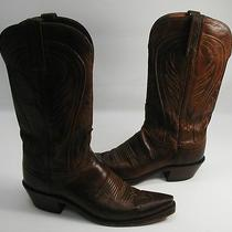 Women 394 Euc 1883 by Lucchese Burnished Leather Western Cowboy Boots Size 8 B Photo