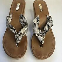 Women Aldo Size 10 Snake Slip on Wedge Platform Comfort Flip Flop Sandals Shoes Photo