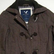 Women American Eagle Outfitters Herringbone Bomber Jacket Coat M Medium Photo