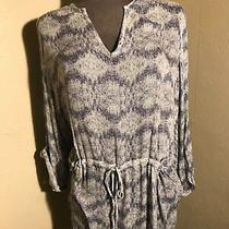 Women Antropology Dolan Coast Collection Top Size L Tie Waist Zingzang Print  Photo