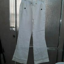 Women Bebe Linen Pants. White/size S. Free Shipping. New Without Tag. Photo