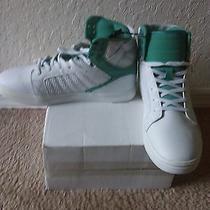 Women Carbon Elements White & Green Baller Tops Fashion Sneakers Size 10 (Dm)  Photo