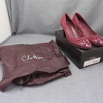 Women Cole Haan Rosetta Burgundy Suede Patent Leather 3