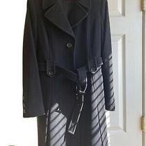 Women Dkny New Black Wool Coat Size 6 Photo